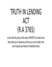 TRUTH IN LENDING ACT.pptx