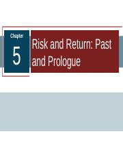 6_Risk and Return