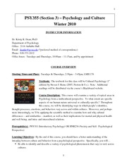 syllabus, PSYC 355 section 3, Winter 2011