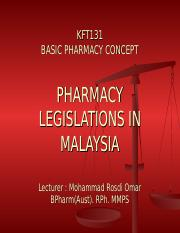 OVERVIEW ON POISON LEGISLATIONS IN MALAYSIA