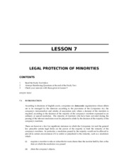 LAWII.7.7 LEGAL PROTECTION OF MINORITIES