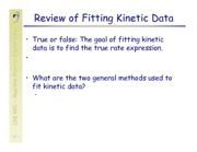 Kinetic Data Fitting Notes
