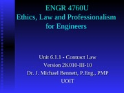 UNIT 6.1 2010-III-10 contract law