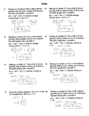 Motion word problems written solutions St Brendan Catholic High School ...