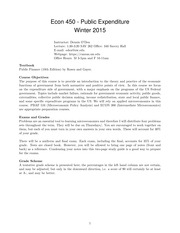 Econ 450 Syllabus Winter 2015