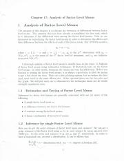 Notes Part 7 - Analysis of Factor Level Means