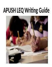 APUSH_LEQ_Writing_Guide