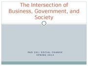 Business Government and Society Online Lecture