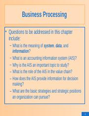 1.Business Processing