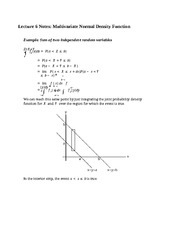 Lecture 6 Notes Multivariate Normal Density Function