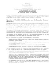 ECON 222 Fall 2010 Assignment 1 Solutions
