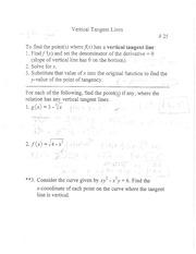 vertical tangent lines notes