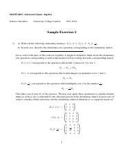 MATH6403-Exercise-Set-1 pdf - MATH 6403 Advanced Linear