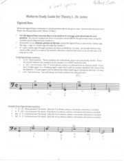 Music Theory I study guide
