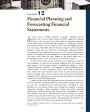 CHAPTER 12 Financial Planning and Forecasting Financial Statements