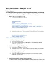 Assignment 3 answers R docx - R a Load CSV in R by skipping