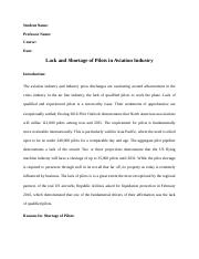 Paper on lack and demand of Pilots.docx