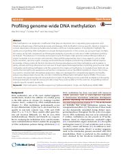 2016 EPIGENE AND CHROMATIN Profiling genome-wide DNA methylation