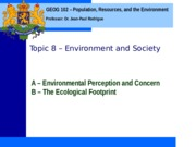 Geog 102 Topic 8