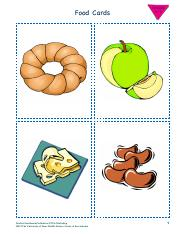Elementary Food Cards 2A