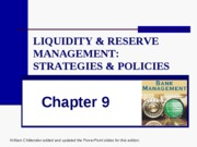 CHAP_09_Liquidity & Reserve Management-Strategies & Policies
