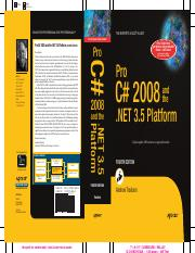 Pro C# 2008 and the NET 3.5 Platform Fourth Edition