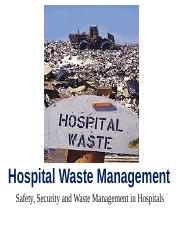 8. Hospital Waste Management