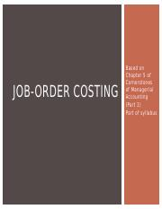 JOB-ORDER COSTING Chapter 5 Part 1.pptx