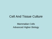 Cell And Tissue Culture