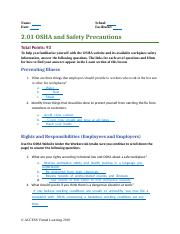 2.01 OSHA and Safety Precautions  .odt