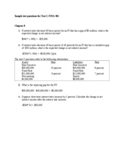 Sample test questions for Test 2 FINA 465 2011