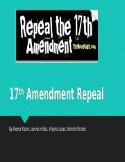 17th Amendment Repeal pp.pptx
