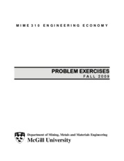MIME 310 - Problem Exercises