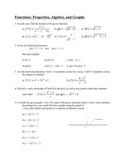 Functions Properties, Algebra, and Grap