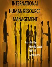 objective of ihrm Disseminate best practice methodologies for human resource management reinforce the education and practice of hr management in syria and act as advisors and.