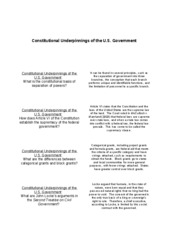 Flashcards Unit I - Constitutional Underpinnings of the U