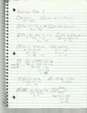 Elementary Algebra II Practice Test 1 Notes