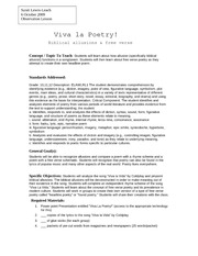 official lesson plan to Viva la Poetry!