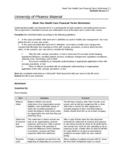 hcs 405 week 2 A+ tutorial for hcs 405 week 2 patton fuller income statement worksheet use this worksheet as a reference to help you get a great grade hcs 405.