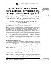neely performance measures