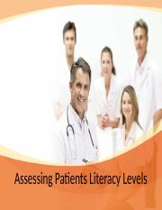 Assessing Patients Literacy Levels_2.8.16