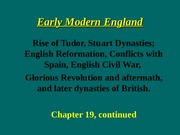 HISTORY 102 LECTURE (Early Modern England).ppt