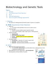 Biotechnology and Genetic Tools.docx