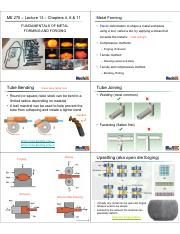 Lecture 13 - Ch 4 6 _ 11 Metal Forming and Forging.pdf