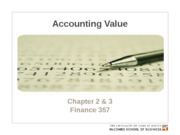 Chapter 2 & 3. Accounting value
