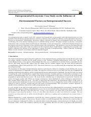 Entrepreneurial EcosystemCase Study on the Influence of.pdf