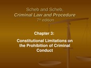 Ch 3 Constitutional Limitations