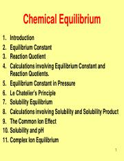 Week6_Chemical Equilibrium