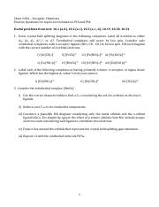 Supplementary Questions for Exam 2