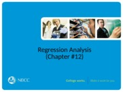 36 - Regresssion Analysis